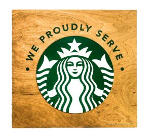 Sign-Starbucks-Wood-square-logo